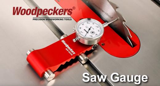 Woodpeckers - Messuhr - Saw Gauge - Sägeanschlag zur Einstellung der Schneidetische - Schwarzer Koffer